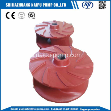 Horizontal slurry pump dengan impeller krom tinggi